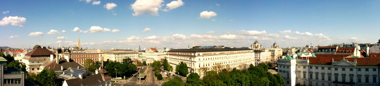 Vienna from our hotel