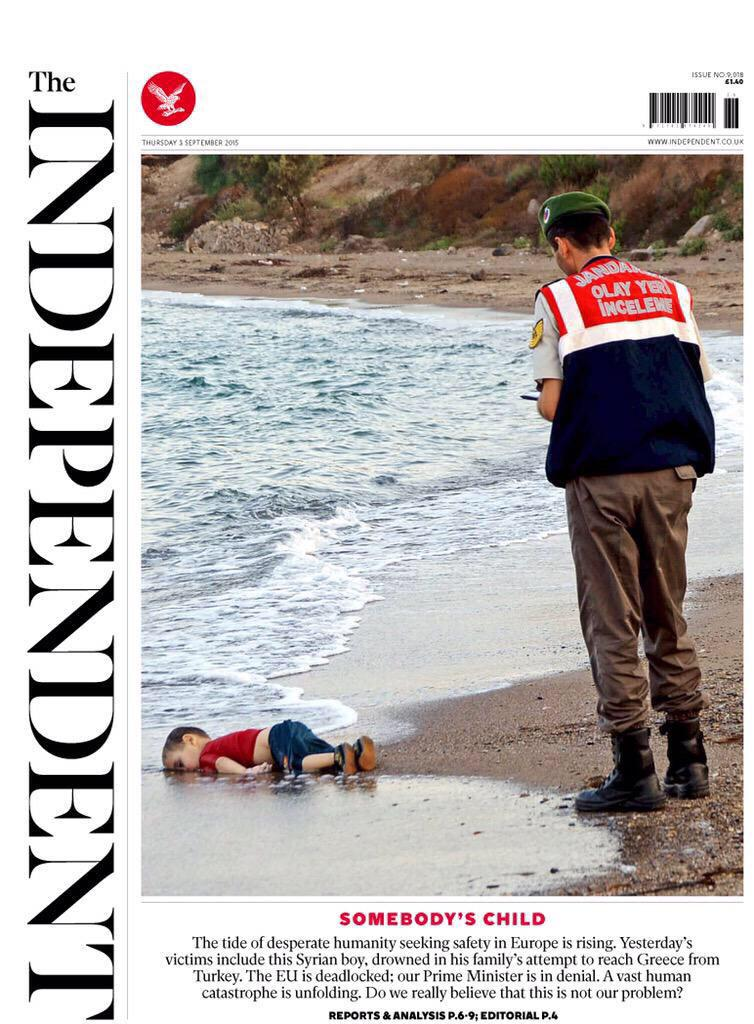 The body of a child, washed up on a Turkish beach