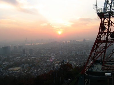 A view of Seoul from the N. Seoul Tower