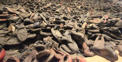 Shoes belonging to the victims of Auschwitz
