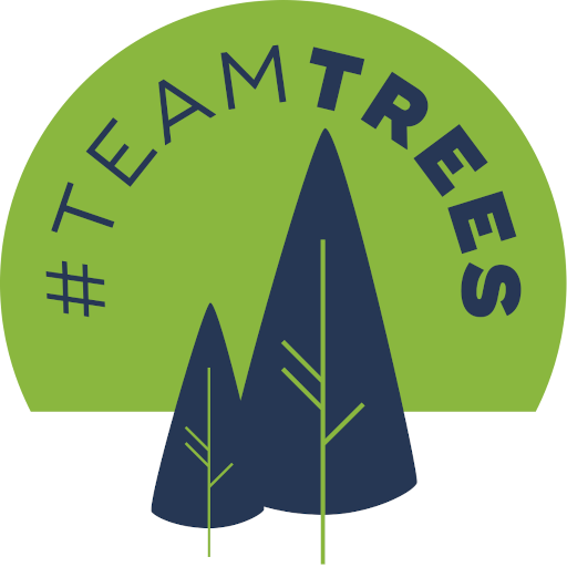 The #TeamTrees logo